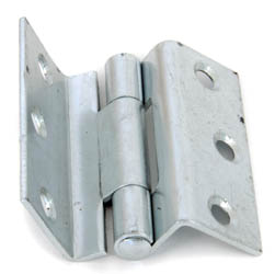 Stormproof Cranked Hinges - Zinc Plated