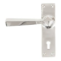 Polished Chrome Straight Lever Door Handle