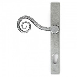 Blacksmith Pewter Patina Monkey Tail Slim Lever Espagnolette Door Handle