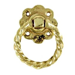 Kirkpatrick Brass Daisy Rope Gate Handle