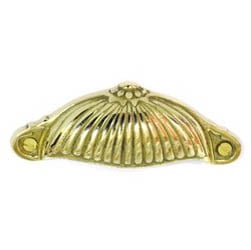 Brass Half Daisy Drawer Pull