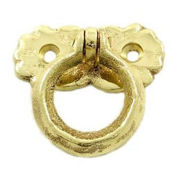 Kirkpatrick Brass Butterfly Ring Cabinet Handle