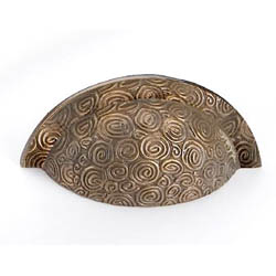 Antique Brass Nautilus Drawer Pull