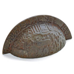 Antique Bronze Aztec Drawer Pull