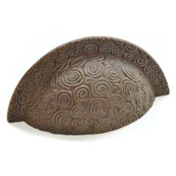 Antique Bronze Nautilus Drawer Pull