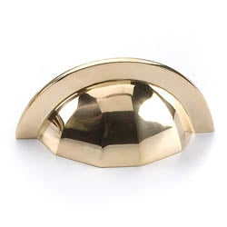 Brass Raglan Drawer Pull