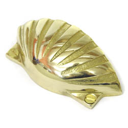 Brass Shell Drawer Pull