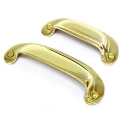 Brass Plain Drawer Pull