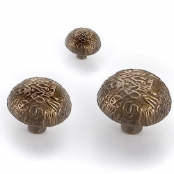 Antique Brass Aztec Knob
