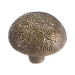 Antique Brass Nautilus Knob