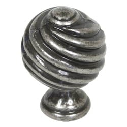 Blacksmith Pewter Patina Twist Knob
