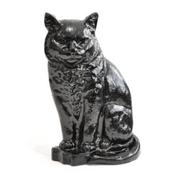 Large Black Cat Door Stop