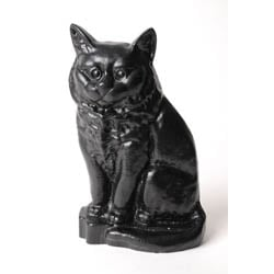 Small Black Cat Door Stop