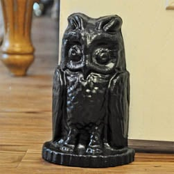 Owl Doorstop - Black or Rust Finish
