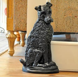 Black Terrier Dog Doorstop