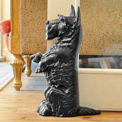 Black Scottie Dog Door Stop - Life Size*