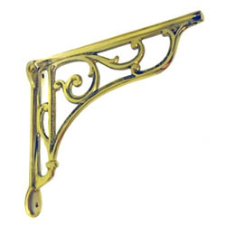 Brass Oblique Shelf Brackets