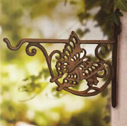 Scroll Hanging Basket Bracket - Cast Aluminium