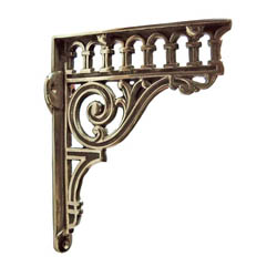 Brass Romanesque Shelf Brackets