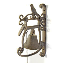 Large Bird Wall Bell