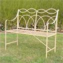 Ocean Garden Bench - Antique Ivory