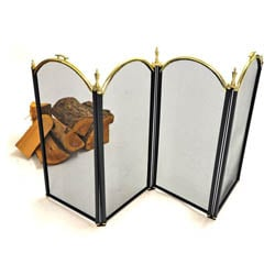 Windsor Fire Screen - Black and Brass | Fireside Accessories