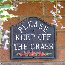 Keep off the grass sign | General Signs
