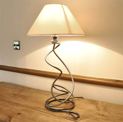 Hand Forged Table Lamp - Complete with Shade