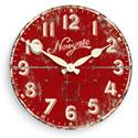 Ice Cream Factory Clock - Red