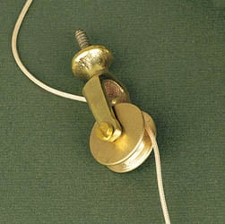 Brass Butler Bell Extension Pulley
