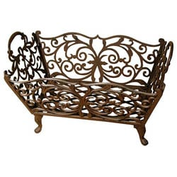 Ornate Scroll Log Basket