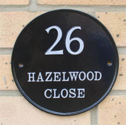 Contemporary Round Bespoke House Name Sign