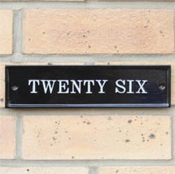 Contemporary Rectangle House Number Sign