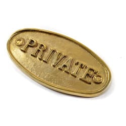 Brass Private Sign