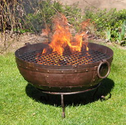 Recycled Kadai Fire Bowl | Cast Iron Home and Garden Ware & Traditional Ironmongery