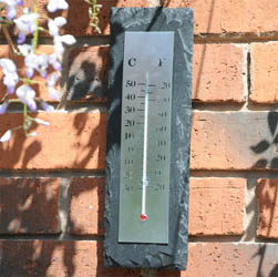 Rectangular Garden Slate Thermometer