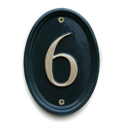 Double Border Oval House Number Sign