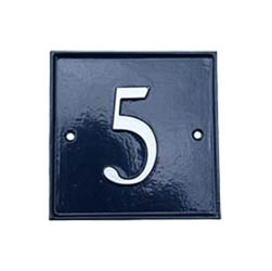 Square House Number Sign - 5 inch