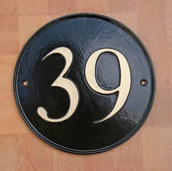 Round House Number Sign