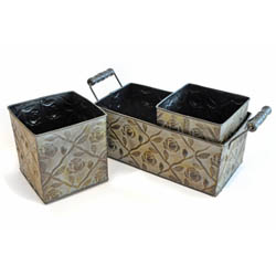 Embossed Planter Set