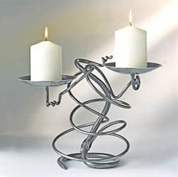 Hand Forged Double Tangle Candle Holder