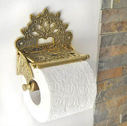 Brass Victorian Toilet Roll Holder