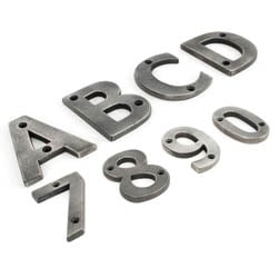 Antique Pewter Letters/House Numbers
