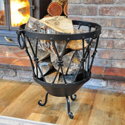 Large Rustic Log Basket