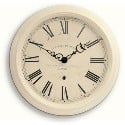 Large Gallery Clock Cream