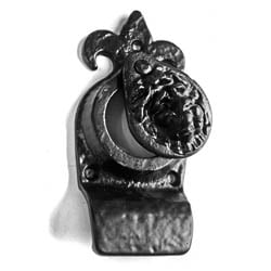 Kirkpatrick 1487 Fleur De Lys And Lion Head Cylinder Latch Cover