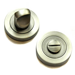 Bathroom Door Turn Knob  - Matt Gun Metal Finish