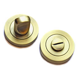 Bathroom Door Turn Knob  - Matt Antique Brass Finish