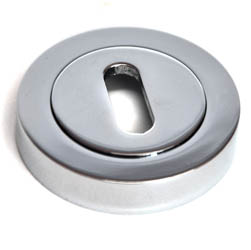 Round Escutcheon - Chrome Finish