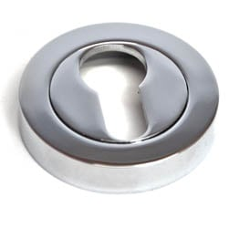 Euro Escutcheon - Chrome Finish